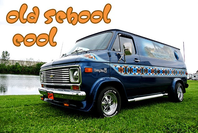Old School Cool 1977 Chevrolet Hop Cap Van Tastic Conversion
